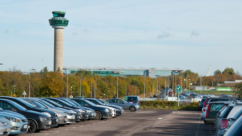 Control Tower over looking car park