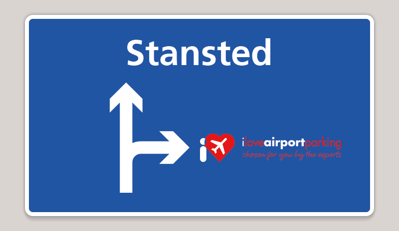 Signpost to Stansted