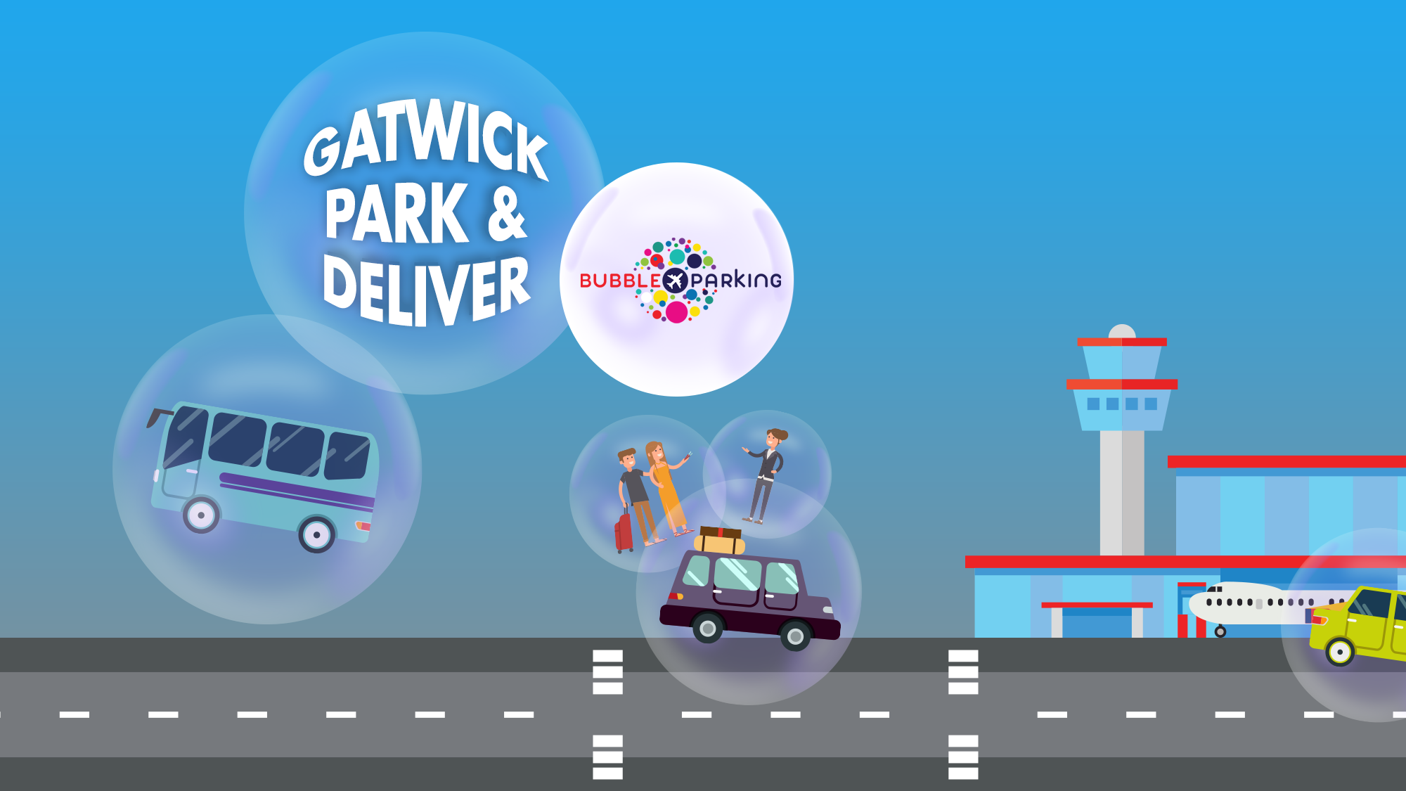 Bubble Park And Deliver I Love Airport Parking